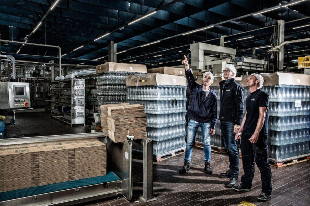 LED verlichting bij grote distilleerderij in Zoetermeer