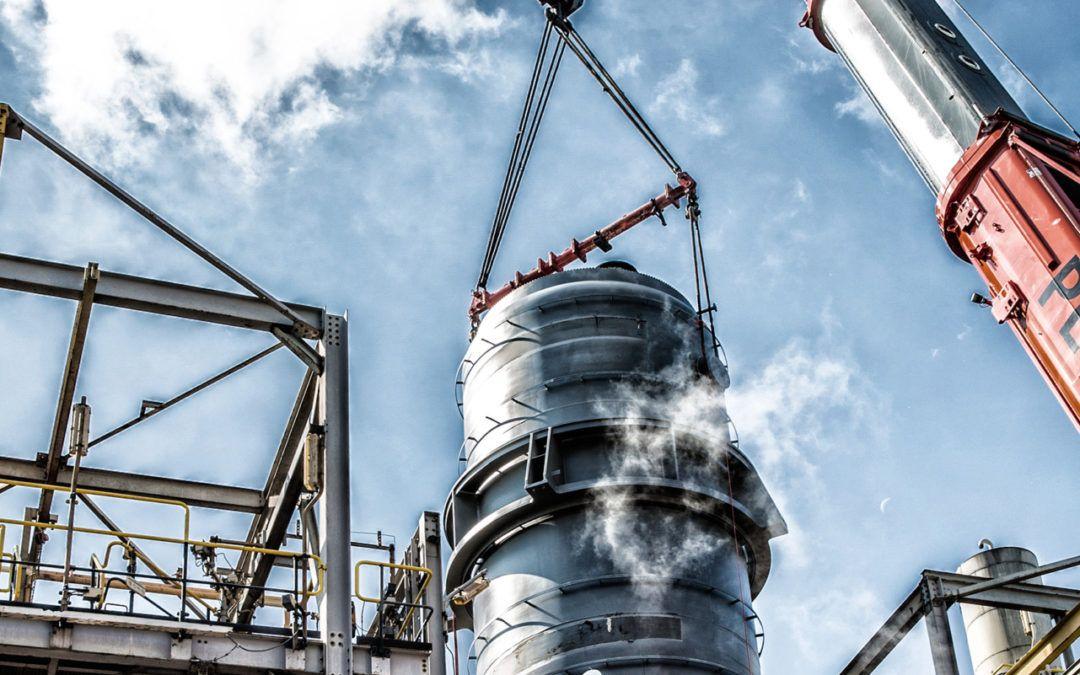 Vervangen silo in industriële omgeving